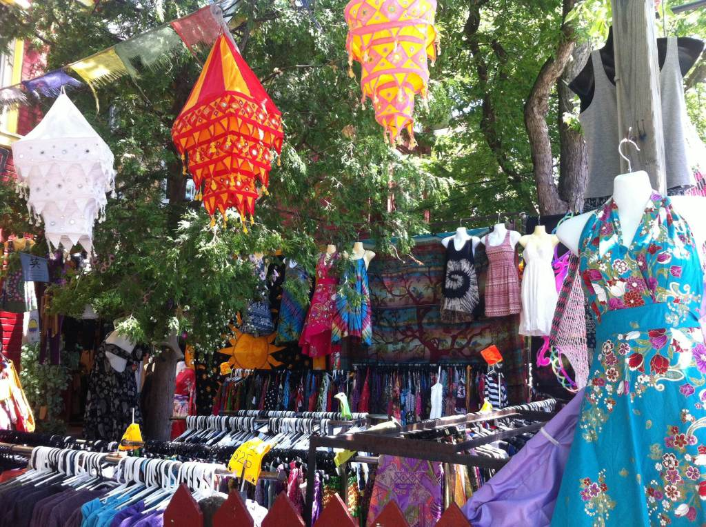 Outdoor display at Dancing Days in Kensington Market, Kensington and Dundas, June 16, 2015